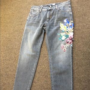 New with tags sportmax code embroidered jeans